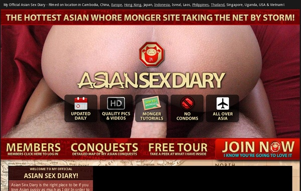 Asiansexdiary.com Checkout Page