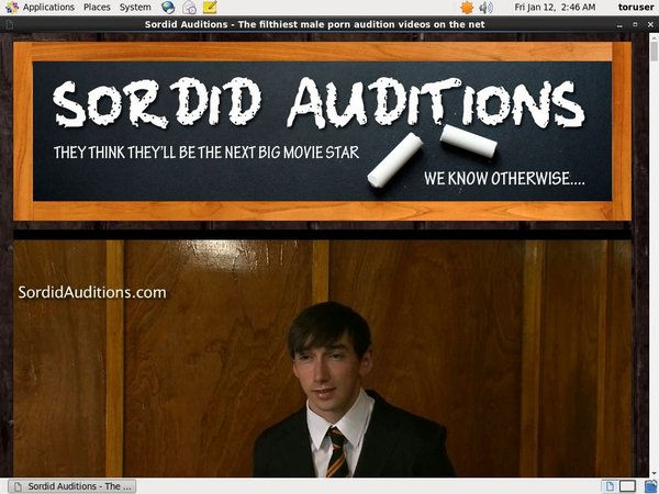 Free Sordid Auditions V2 Acounts
