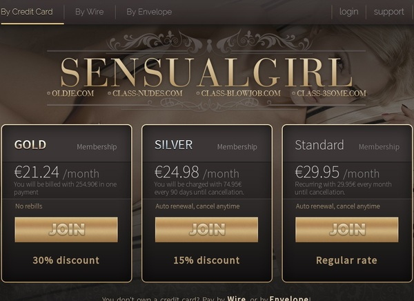 Sensual Girl Password And Login
