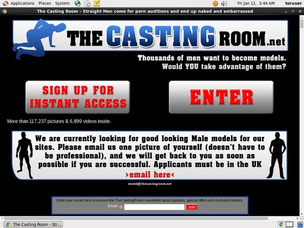 The Casting Room With No Credit Card