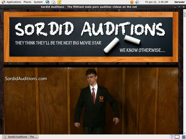 Sordid Auditions Update