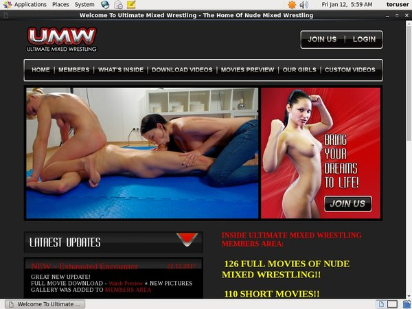 Ultimatemixedwrestling.com Paypal Account