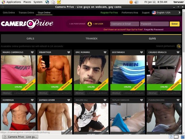 Free Working Camera Prive Gay Account