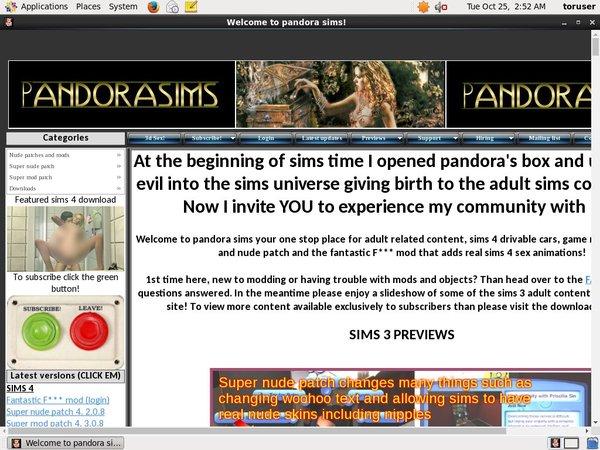 Accounts Of Pandora Sims